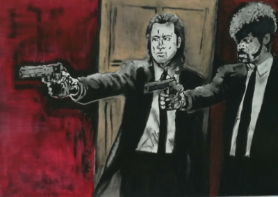 """Pulp Fiction"" / Akryl na plátně / 120 x 80 / 2013"