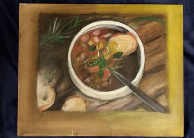 Polévkárna / Akryl na plátně / 40 x50 / 2014
