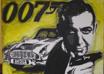 """""""James Bond"""" Akryl na plátně / 40 x 30 / 2013"""