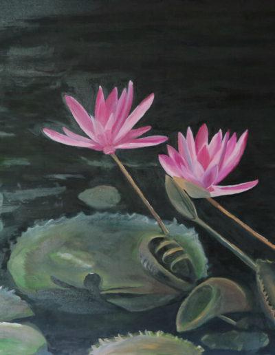 """""""Vzpomínky na Kambodžu""""/ Olej na plátně / 80 x 80 / 2018"""