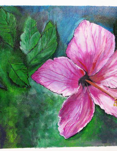 """Hibiscus""/ Akryl na papíře/ / 2018 / 56 x 42,5"