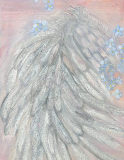 Andělské křídlo / Olej na akrylovém podkladu / 70 x100 / 2019